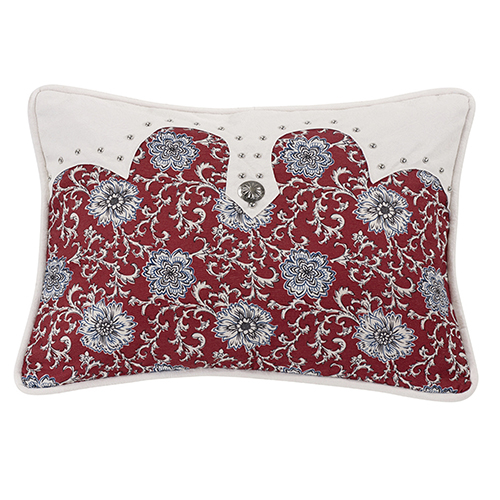 Bandera Floral 16 x 21 In. Throw Pillow with Concho