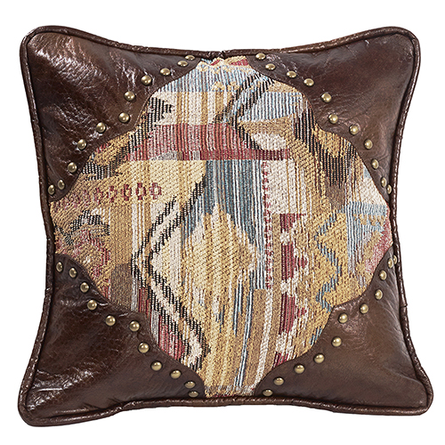 Ruidoso Multicolor 18 x 18 In. Throw Pillow with Scalloped Corners