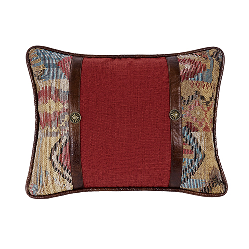 Ruidoso Multicolor 16 x 21 In. Throw Pillow with Scalloped Corners