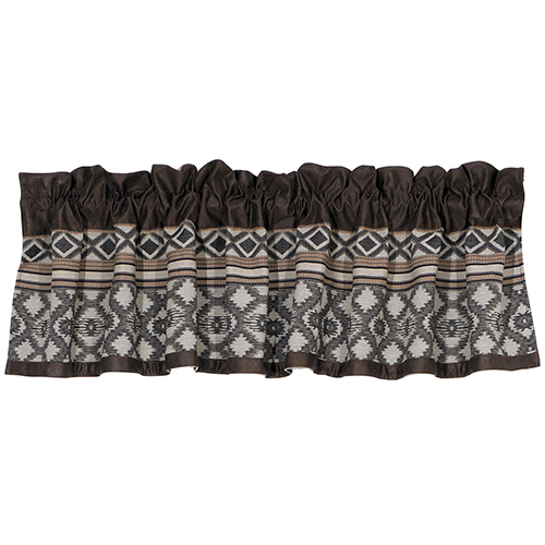 Tucson Taupe and Chocolate 84 x 18-Inch Valance