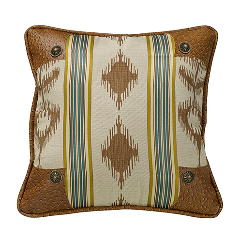 Alamosa Multicolor 18 x 18 In. Throw Pillow with Conchos