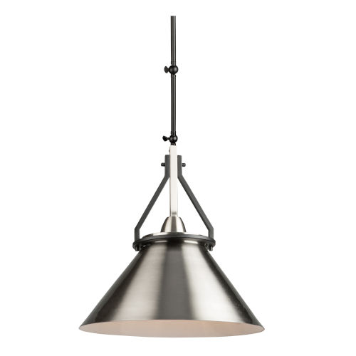 Brydon Black and Brushed Nickel 14-Inch One-Light Convertible Wall Sconce