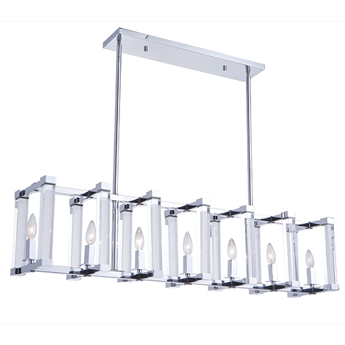 Carlyle Chrome Seven-Light Mini Pendant