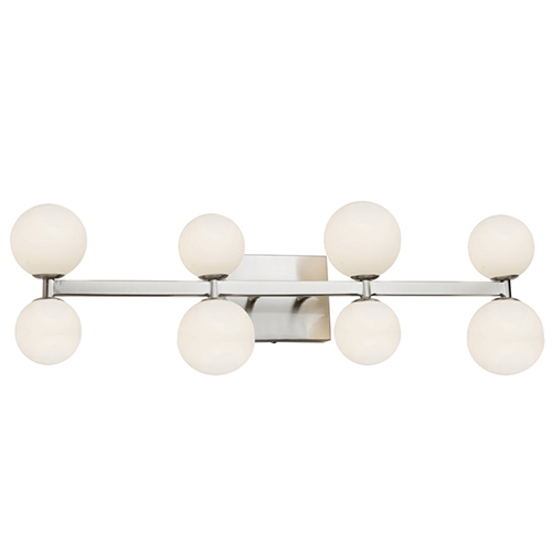 Hadleigh Brushed Nickel Eight-Light LED Wall Sconce