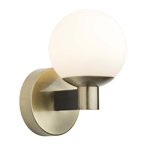 Tilbury Matte Black and Brass LED Wall Sconce