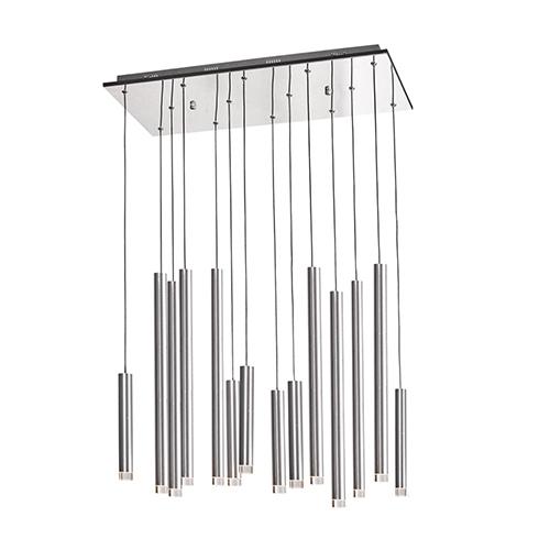 Galiano Satin Aluminum 14-Light LED Pendant