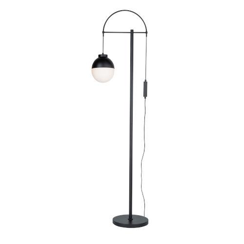 Cortina Matte Black One-Light Floor Lamp