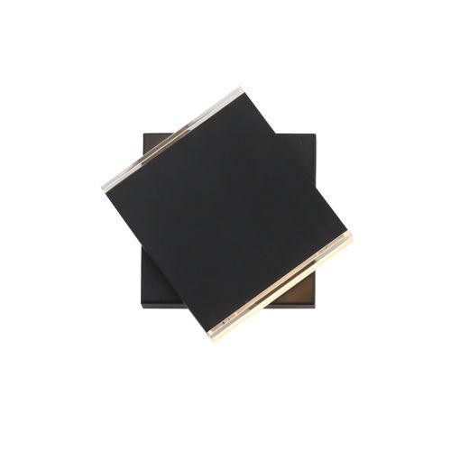 Task Black Two-Light LED Wall Sconce