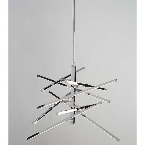 Shooting Star Chrome Eight-Light LED Chandelier