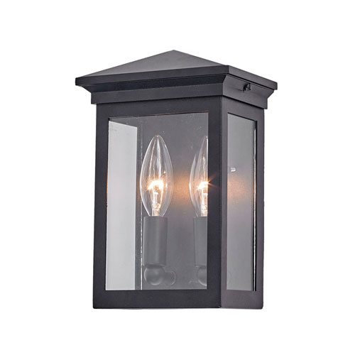 Gable Black Two-Light Outdoor Wall Sconce