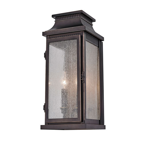 Mansard Bronze 18-Inch Two-Light Outdoor Wall Sconce
