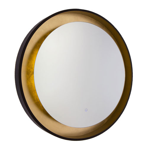 Reflections Oil Rubbed Bronze and Gold Leaf LED Mirror
