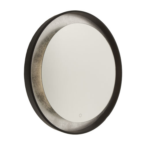 Reflections Oil Rubbed Bronze and Silver Leaf LED Wall Mirror