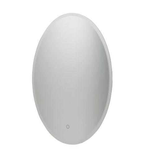Lunar White 24-Inch LED Oval Wall Mirror