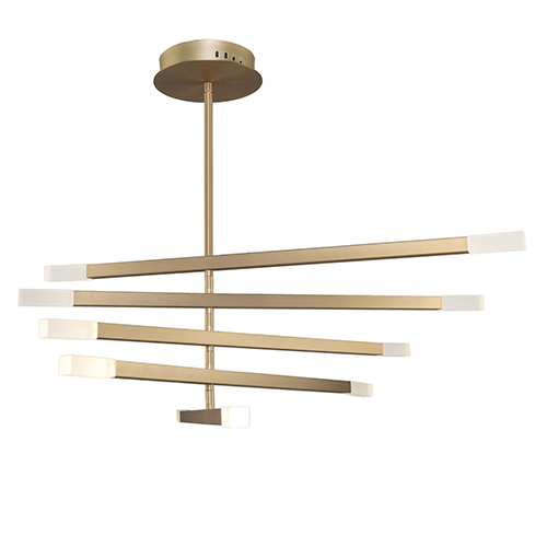 Twig Brushed Gold 10-Light LED Chandelier