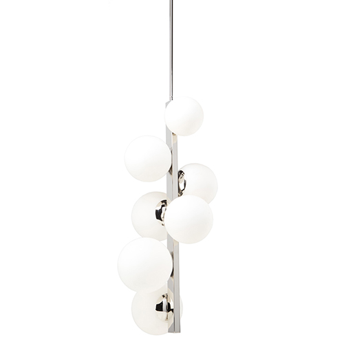 Moonglow Polished 18-Inch Nickel Seven-Light Chandelier