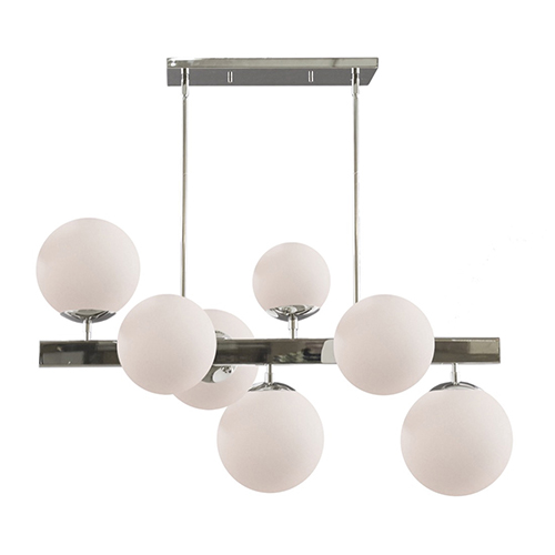 Moonglow Polished Nickel 16-Inch Seven-Light Chandelier