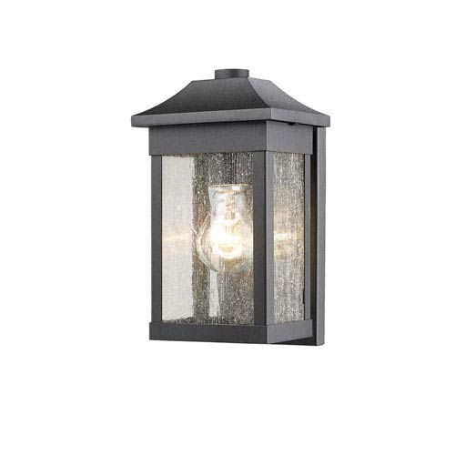 Morgan Black 10-Inch One-Light Outdoor Wall Sconce