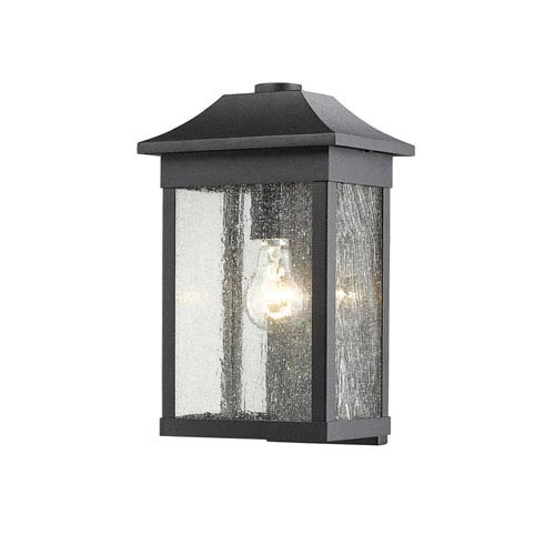 Morgan Black 13-Inch One-Light Outdoor Wall Sconce