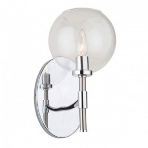 Hamilton Chrome and Brushed Nickel One-Light Wall Sconce