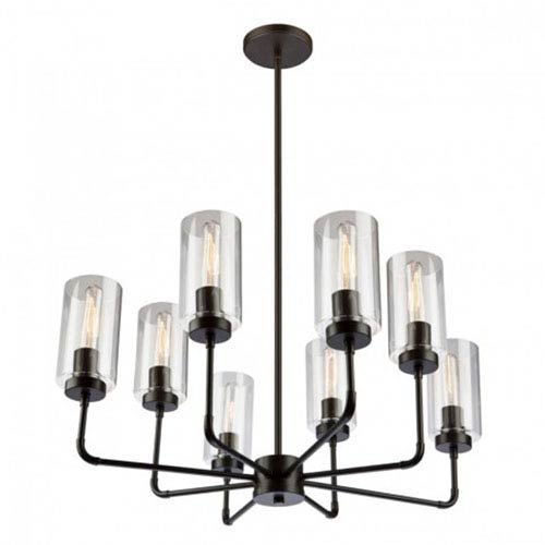 Ray Oil Rubbed Bronze Eight-Light Chandelier