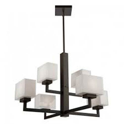 Cube Light Oil Rubbed Bronze Six-Light Chandelier