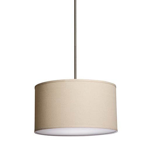 Steven & Chris Lighting Mercer Street Oatmeal Three-Light 18-Inch Wide Drum Pendant