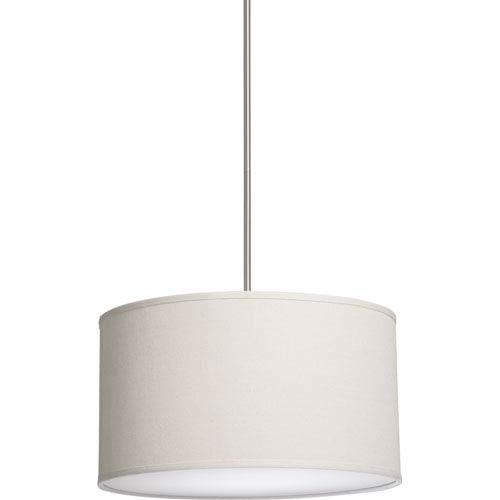 Steven Chris Lighting Mercer Street White Three Light 18 Inch Wide Drum Pendant With Linen Shade