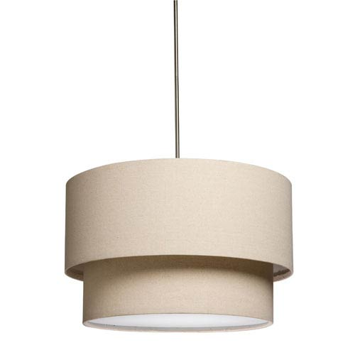 Mercer Street Oatmeal Three-Light 18-Inch Double Wide Drum Pendant
