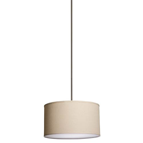 Mercer Street Oatmeal Six-Light Large Round Drum Pendant