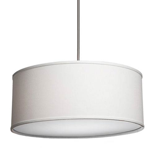Steven Chris Lighting Mercer Street White Six Light Large Round Drum Pendant