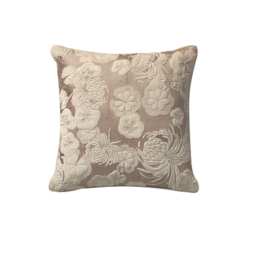 Gaufre Ivory 20 x 20 In. Throw Pillow