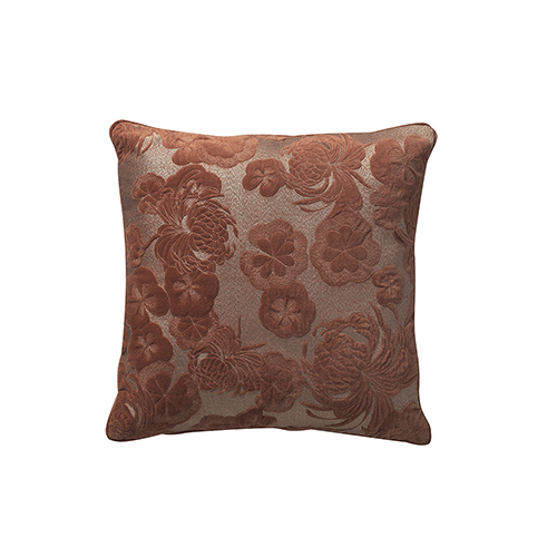 Gaufre Rosewood 20 x 20 In. Throw Pillow