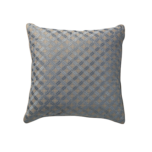 Lagoon Natural and Blue 22 x 22 In. Throw Pillow