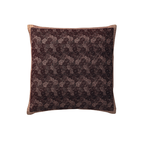 Labyrinth Blackberry 21 x 21 In. Throw Pillow