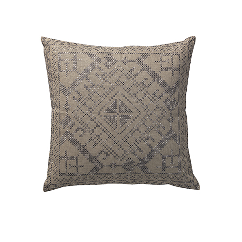 Convex Natural and Grey 22 x 22 In. Throw Pillow