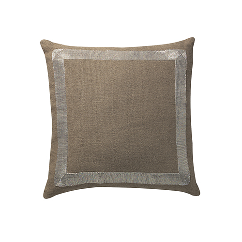 La Grille Natural Beaded 22 x 22 In. Throw Pillow