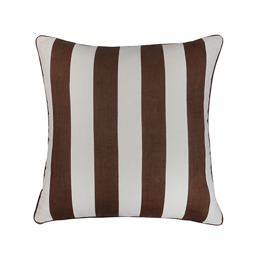 Crossbar Brown and Ivory 22 x 22 In. Throw Pillow