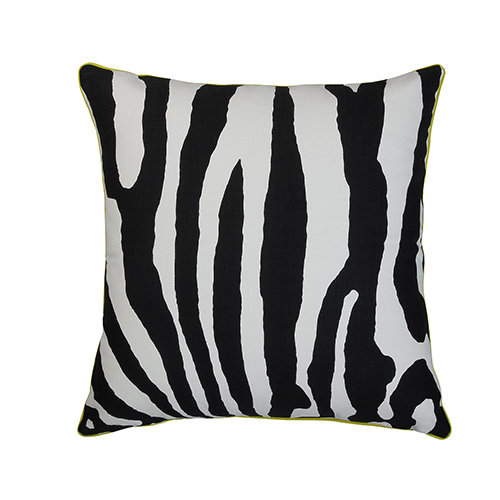 Abila Black and White 22 x 22 In. Throw Pillow