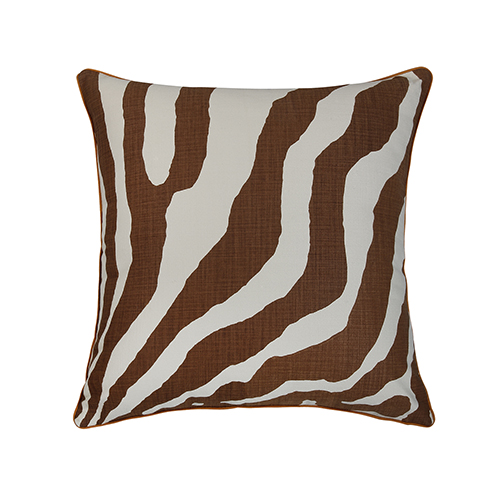 Abila Brown and Ivory 22 x 22 In. Throw Pillow