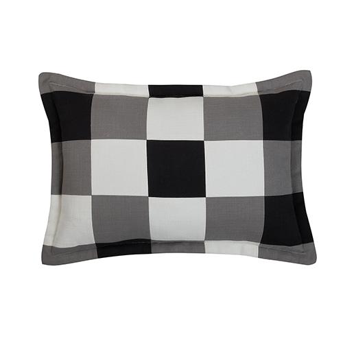 Artesia Black, Grey and White 14 x 20 In. Throw Pillow