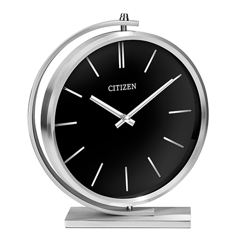 CC1029 Decorative Silver and Black Desk Clock