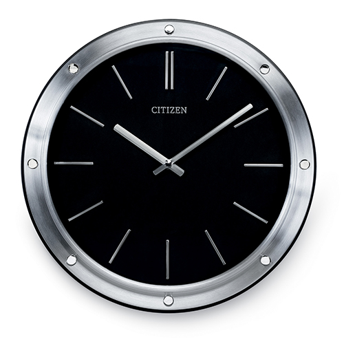 CC2001 Gallery Black and Silver Wall Clock