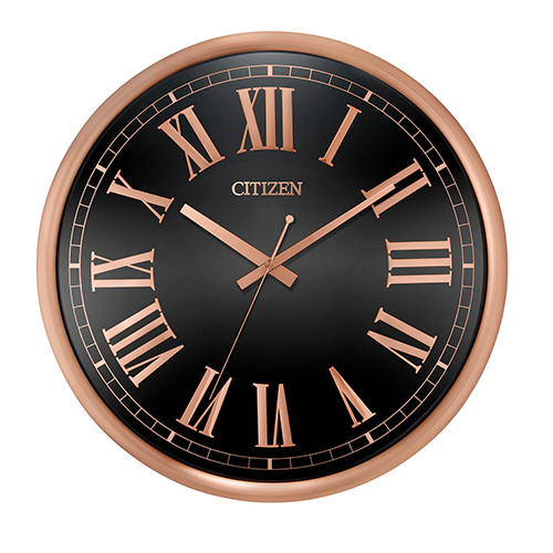 Citizen Cc2024 Gallery Black And Rose Gold Wall Clock