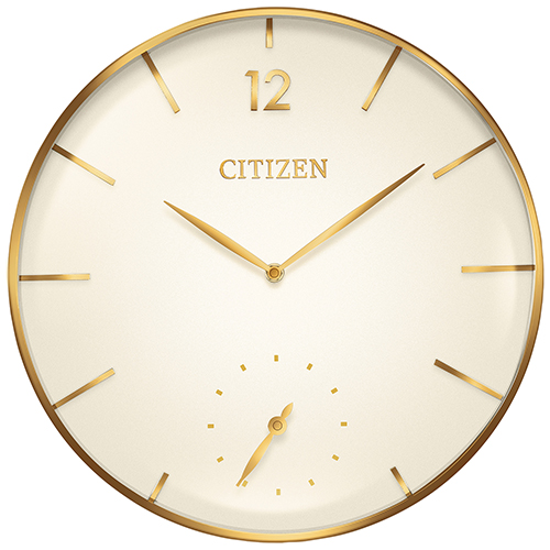 CC2034 Gallery Ivory and Gold Wall Clock