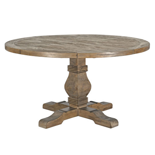 Quincy Desert Gray 55-Inch Round Dining Table