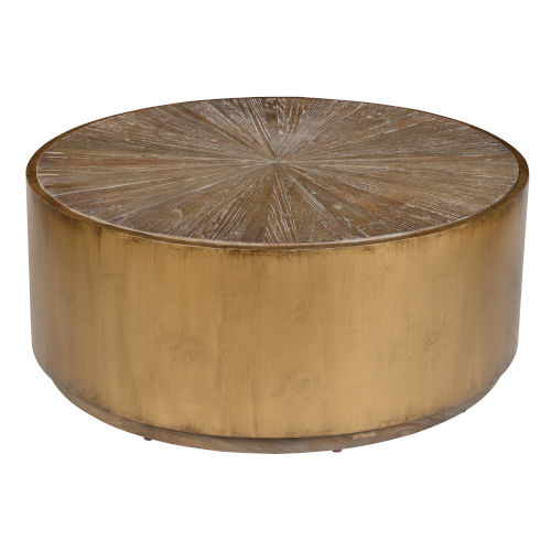 Salsbury Brown and Antique Gold Coffee Table