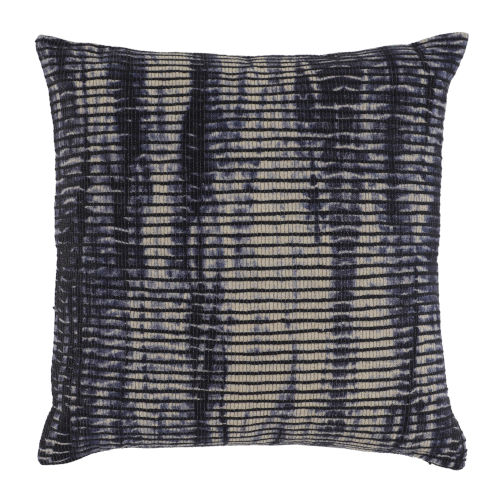 Naveah Navy and Natural Throw Pillow