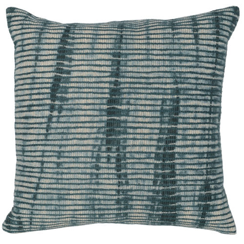Carmen Green and Natural Throw Pillow