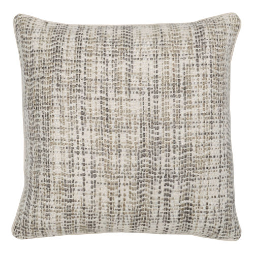 Bonnie Ivory and Natural 22-Inch Throw Pillow